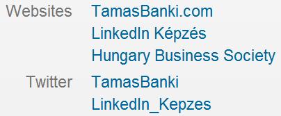 LinkedIn-en a weboldalunk így szép