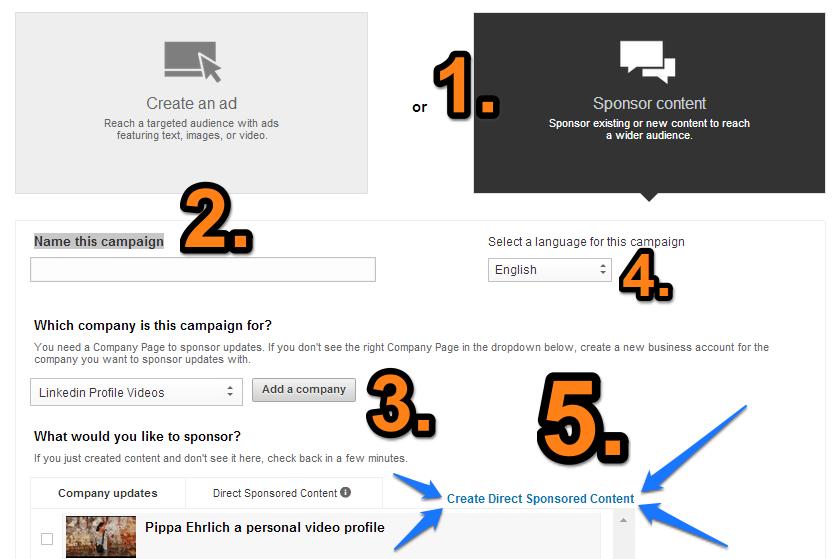 A Sponsor Content 5 lépésben