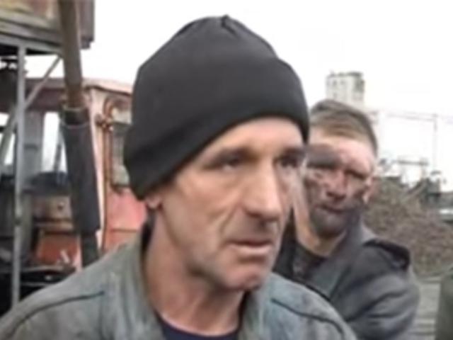 Ukrán részeg élő riportban
