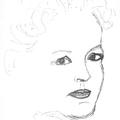 Marilyn Monroe portré - tollrajz