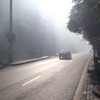 Sűrű füst a Bartók Béla úton
