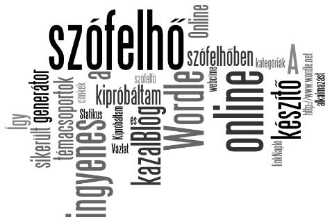 A Wordle online szófelhő generátor - kipróbáltam