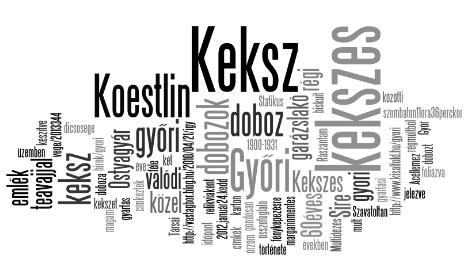 Győri Keksz emlék - garázslakó régi kekszes dobozok