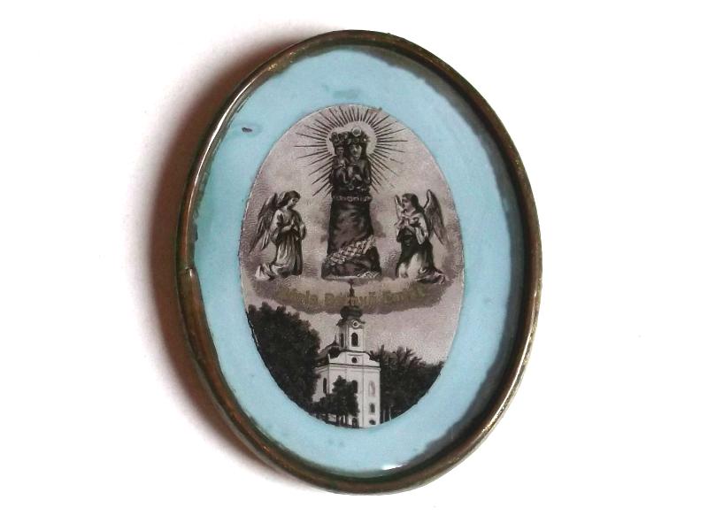 Mária Beznyö Emlék - réz lemez keretben