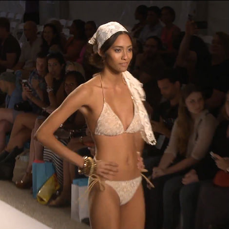 pink divat bikini 2014 nyár - Dolores Cortés bikini 2014