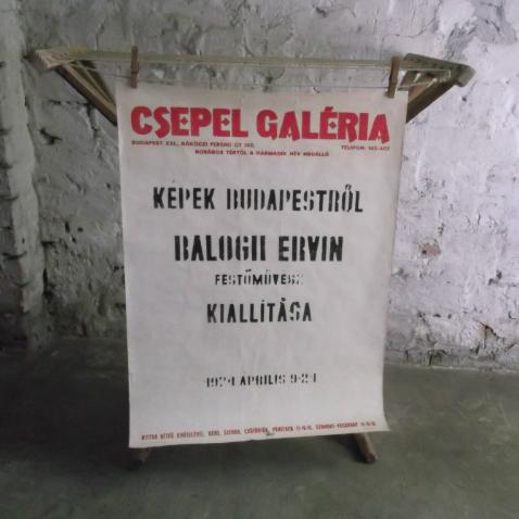 Plakát - Balogh Ervin festőművész kiállítása - 1974. ápilis 9 - 21