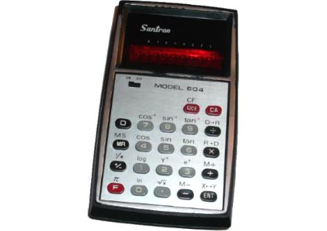 Santron-604-Santron-tudományos-kalkulátor-személyes-relikvia