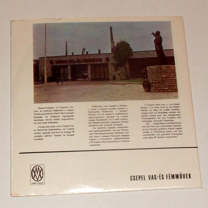 A kislemez borító hátoldala
