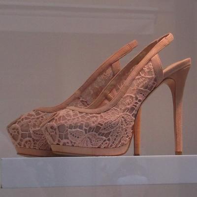 0dec964b3f ZARA csipkés női cipő 2012 - LACE SLINGBACKS - Zara női cipő divat 2012
