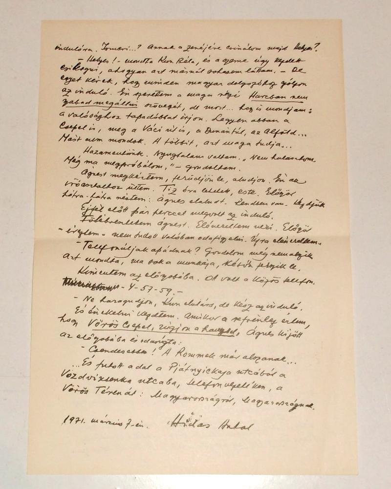 Hidas Antal levelének 2. oldala