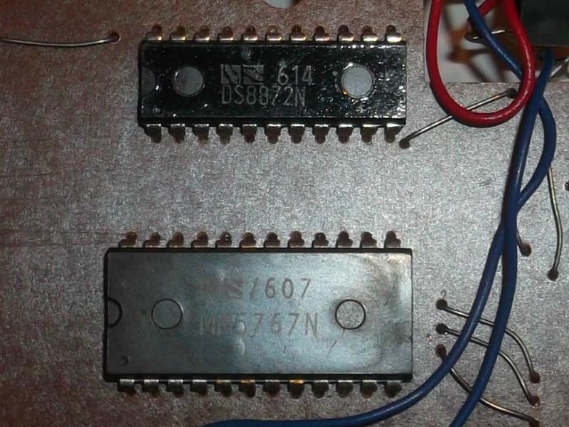 LED kijelző vezérlő IC és a matematikai számítások végző integrált áramkör - DS8872N és MM5767N