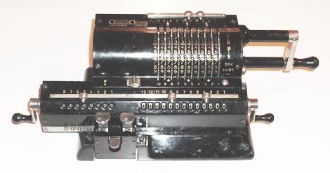 Original Odhner mechanikus számológép - régi, antik számológép