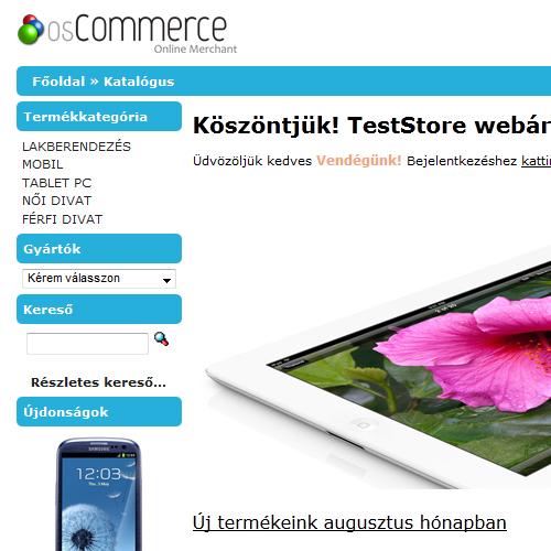 93cc3f690c osCommerce ingyenes webáruház - az osCommerce webáruház minden ...