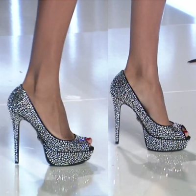 Ezüst magassarkú platform cipő - alkalmi női cipő 2012 - 2013 ősz tél 99973835da