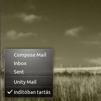 Gmail indikátor a Unity felületén