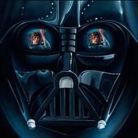 Tükörfényes Vader sisak