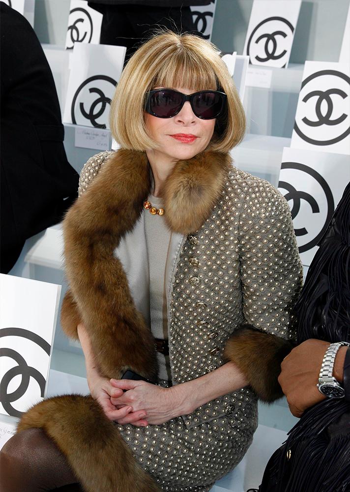 A Vogue nagyasszonyát kötelező megemlíteni, bár nekem egyúttal a régi kémia tanárom is bevillant. Anna Wintour örök.