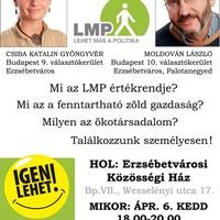 LMP lakossági fórum Erzsébetvárosban