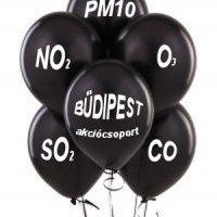 BüdiPest flasmob ma a Blahán: fekete lufikkal a szmog ellen!