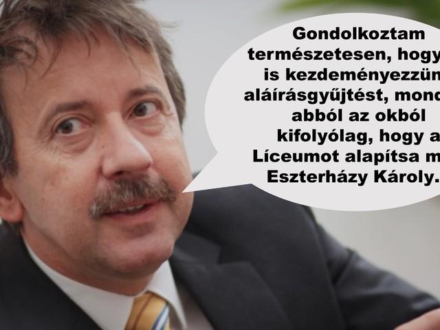 Az EKF rektora őszintén elmondta véleményét az Eszterházy Petícióról