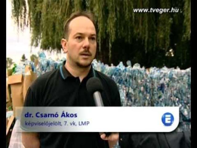 Az egri LMP sajtótájékoztatója a TV Egerben - A hulladék stratégiáról