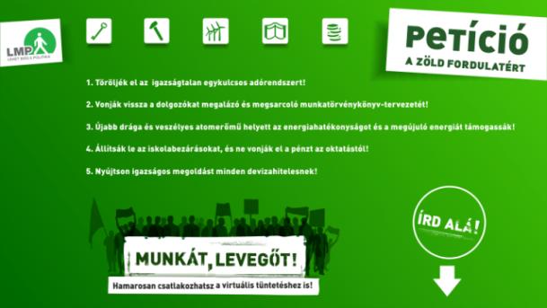 Munkát, Levegőt! Petíció  a zöld fordulatért