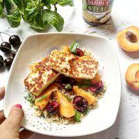 5 perces grillsajtos nyári gyümölcssaláta quinoával