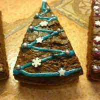 Brownie cuki karácsonyi öltözékben
