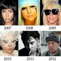 Lady Gaga külseje 2007-2012