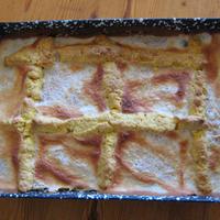Almás-citromos rácsos süti