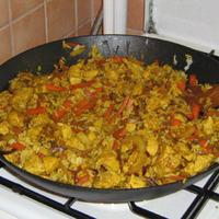 Ázsiai zöldséges rizses csirke