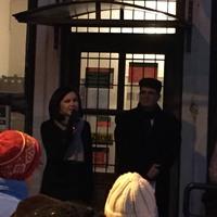 A posta bezárása ellen tüntettek