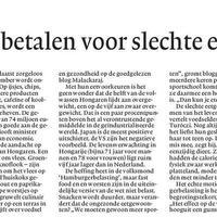 Sajtómegjelenés Hollandia legnagyobb napilapjában