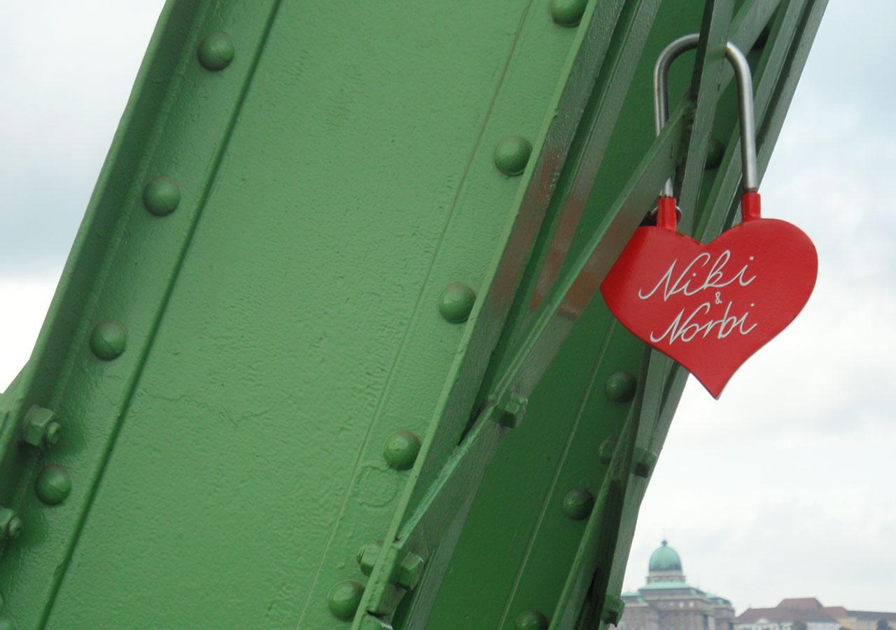 Óriáslakat a Szabadság hídon, 2015 | fotó: Boros Géza