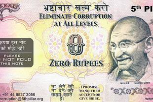 Nulla rúpiás bankjeggyel küzdenek a korrupció ellen Indiában