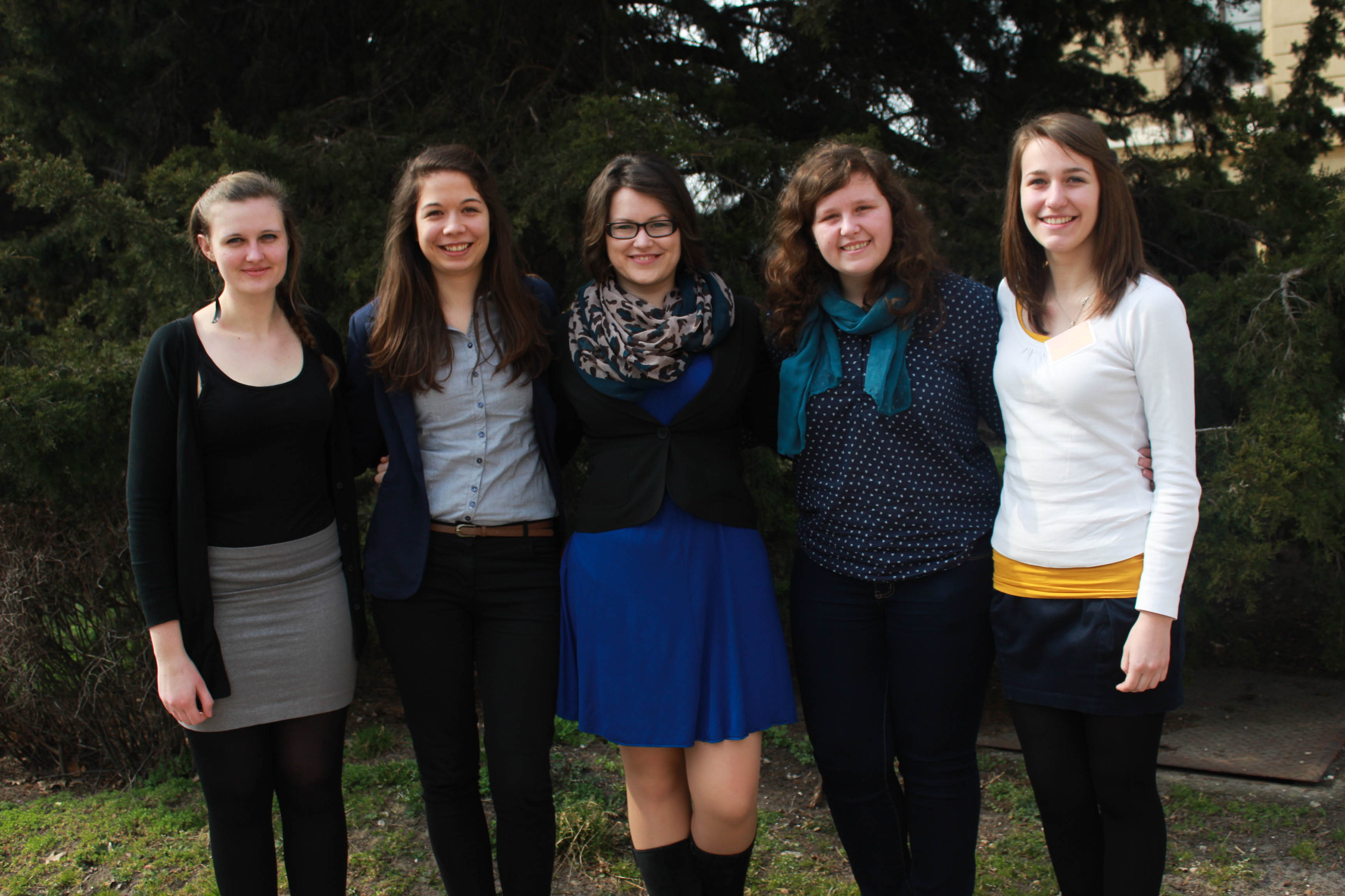 Second from left to right: Horváth Eszter, Program Coordinator of the Spring Meeting 2015