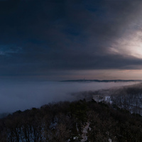 Így néz Budapest felülről, amikor nem látni a ködtől