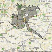 Így néz ki az olajfolt Magyarországhoz viszonyítva