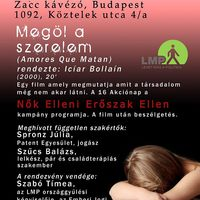 Nők Elleni Erőszak Ellen kampány: filmklub Budapesten