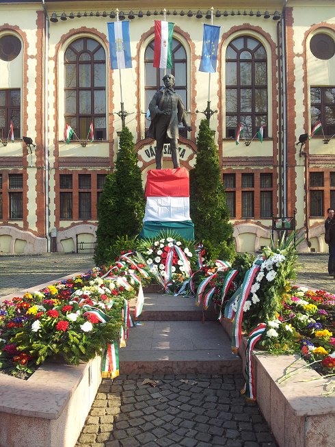 A Kossuth szobor.