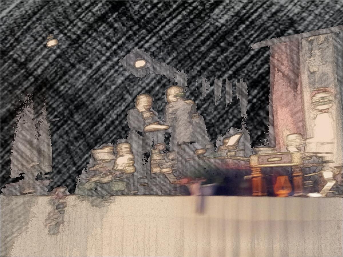 """Kínos incidens a koncerten. Földesi Gyula FIDESZ-es képviselőjelölt Orbán Viktor """"bizonyosság levelét"""" nyújtja át a zavarban lévő polgármesternek. Miután a moszkovita kormány a Nemzeti Kamatfizetés Napjává próbálja süllyeszteni március 15-ét, ez a  levél is a kerület polgárainak nyakig eladósodásáról szól."""
