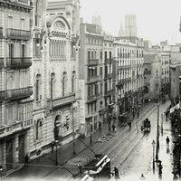 Barcelona akkor és most - Portal de l'Angel