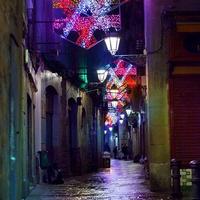 Barcelona karácsonyi fényárban úszva