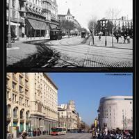 Régen és most: Plaza de Catalunya