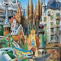 Gaudí épületek egy képbe sűrítve