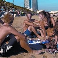 Barcelonában még mindig strandidő van