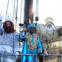 A három királyok kikötöttek Barcelonában