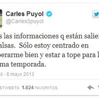 Puyol a Twitteren cáfolta a távozásáról szóló híreket