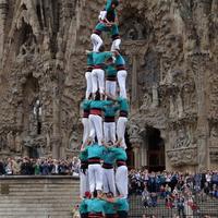 Embertorony Gaudi temploma előtt