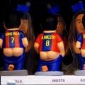 Barca játékosok hátulról letolt nadrággal